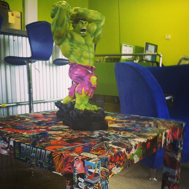 Hulk statue from SmartFile