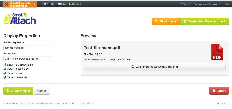 SmarFile Attach Screenshot