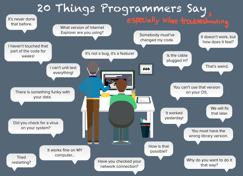 Things Programmers Say