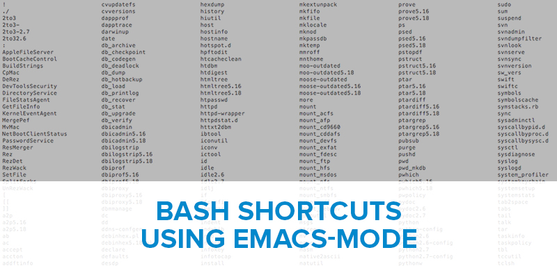 Bash Shortcuts For The Command Line Emacs