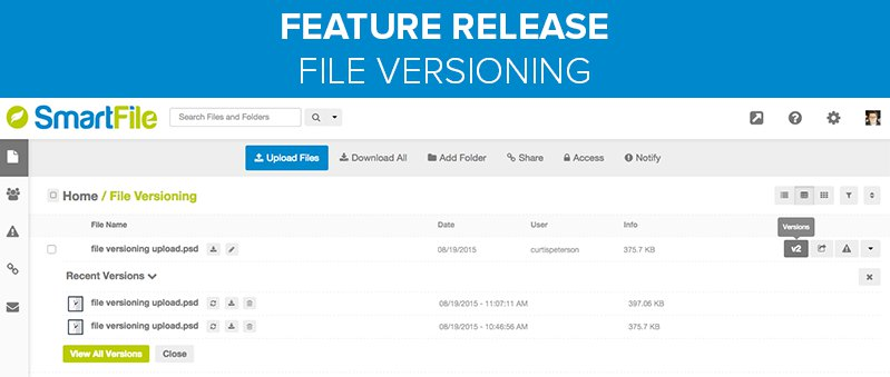 smartfile features - file versioning