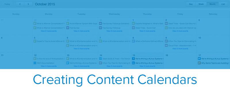 creating a content calendar template