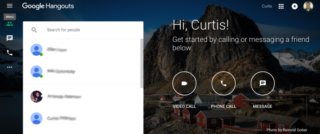 google hangouts for geographically dispersed teams