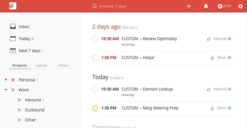 todoist for geographically dispersed teams