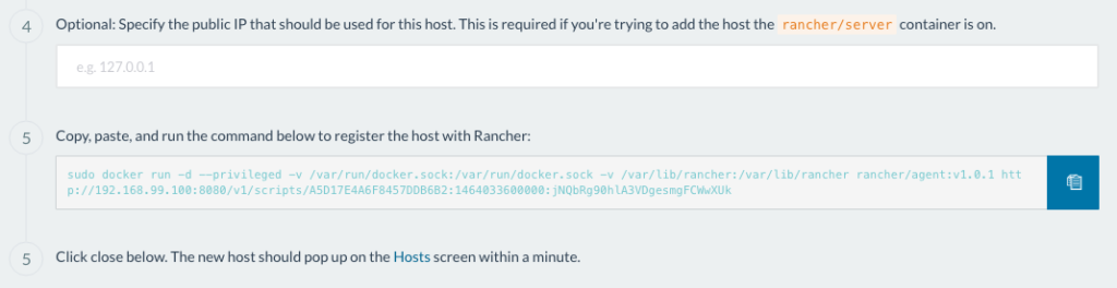 rancher dev environment docker