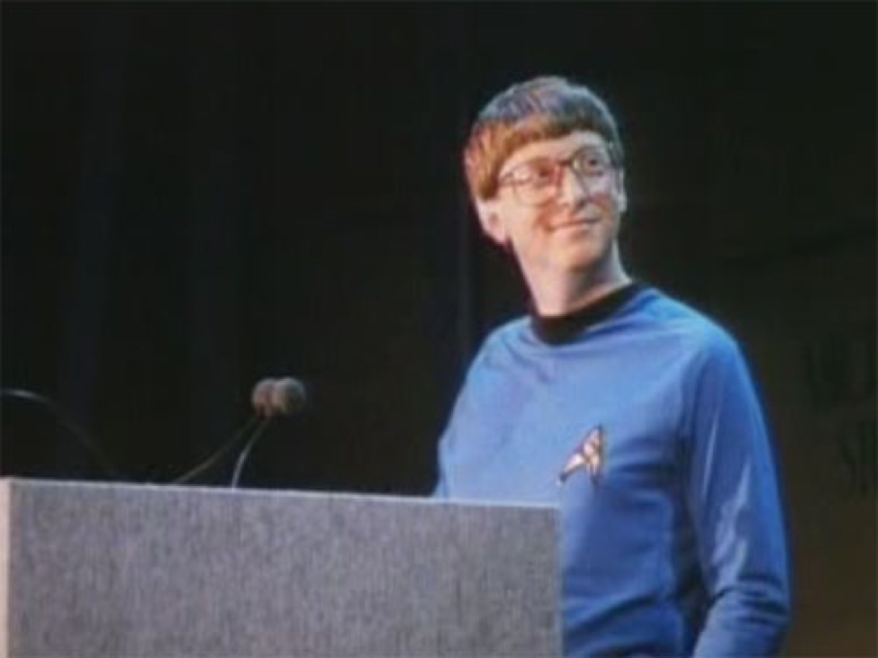 bill gates star trek